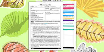 Autumn Leaf Printing EYFS Adult Input Plan