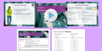 Functions Lesson 3: Inverse Functions - Functions, New content, Algebra, Inverse, Function Machine