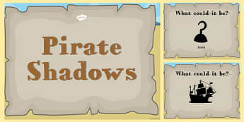 Pirate Themed Shadow PowerPoint - pirate, shadow, powerpoint