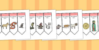 Australia Chinese New Year Editable Bookmarks - Chinese New Year, bookmark template, present, reward, achievement