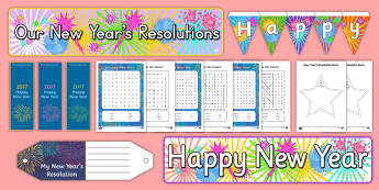 New Year Resource Pack - New year's eve, new year's day,Winter, Season, December, January, Activity Co-ordinators, Support,