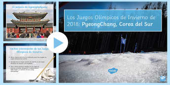 Winter Olympics 2018 PowerPoint Spanish - sports, events, korea, games, information