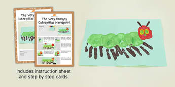 Handprint Craft Instructions to Support Teaching on The Very Hungry Caterpillar - craft