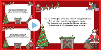 Twas the Night Christmas Poem PowerPoint - twas the night, christmas, christmas carol, lyrics powerpoint, christmas songs, lyrics, powerpoint, poems