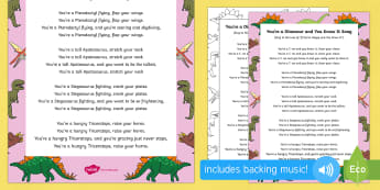 You're a Dinosaur and You Know It Song - Harry and the Bucketful of Dinosaurs, Ian Whybrow, action song, singing, song time, dinosaur, T.rex,