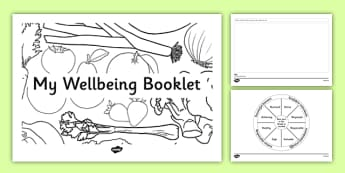 Wellbeing Indicators Drawing Booklet - CfE, SHANARRI, GIRFEC, healthy, happy, safe, protected