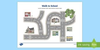 Walk to School Week Road Crossing Maze Activity