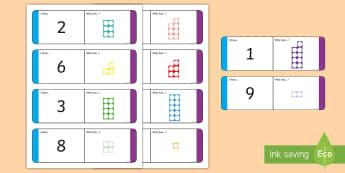 Numbers 1 - 10 with Number Shapes Loop Cards - Numbers 1 - 10 with Number Shapes Loop Cards - numbers, 1-10, loop cards, numicon,numbes,nubers, car