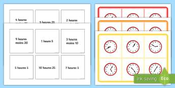 Loto : Quelle heure est-il ? - heure, time, Loto : Quelle heure est-il ?, les nombres, nombres et calcus, calcus