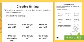 Autumn Writing Activity Sheet - Autumn, Seasons, Display, September, October, November, Leaves, Harvest, Activity Co-ordinators, Sup