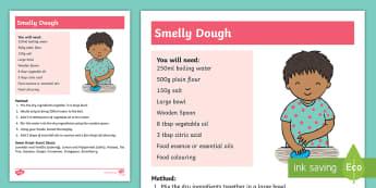 Smelly Dough Activity - dough, sensory, non-verbal, senses, feel, touch,