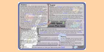 Space Lesson Plan Ideas KS2 - space, lesson plans, lesson plan ideas, KS2, key stage two key stage 2, key stage 2 lessons, lesson ideas, KS2 lesson plan