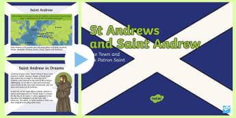 Saint Andrew and St Andrews PowerPoint - Patron, Scotland, Jesus, Day, Andrew's, November,,Scottish