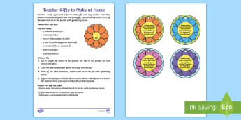Flower Pot Teacher Gift Set Step-by-Step Instructions - present, end of year, home made, gardening, growing