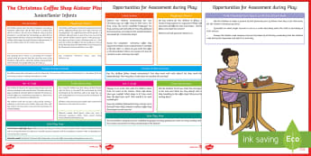 ROI Christmas Cafe Aistear Planning Template - Aistear, Infants, English Oral Language, School, The Garda Station, The Hairdressers, The Airport, T