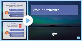 Atomic Structure Quick Quiz - radiation, half life, protons, neutrons, electrons