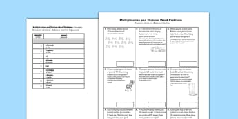 Year 2 Multiplication and Division Word Problems x2, x5, x10 Polish Translation - polish, Real life, context