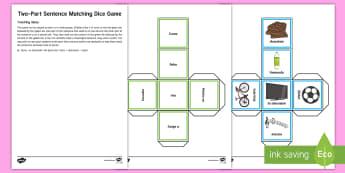 Two Part Sentence Matching Game  - Spanish, Vocabulary, KS2, two, part, sentence, matching, game, building, structured, grammar, activi