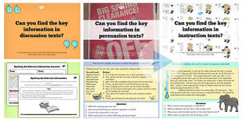 Retrieve and Record Information from Non Fiction Lesson Ideas