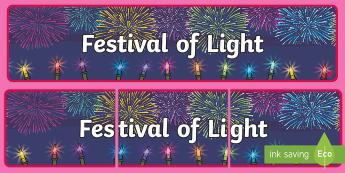 Festival of Light Display Banner - Festival of Light Display Banner, Diwali, lights, lamps, fireworks, festivl, festival, bnanner, bane