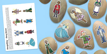 Storytelling Story Stones Image Cut-Outs - National Storytelling Week, Traditional Tales, Fairy Tales.