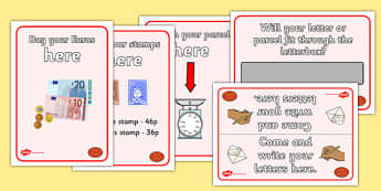 Post Office Display Signs - post office, parcel, letter, display, sign, poster, stamps, euro, letterbox