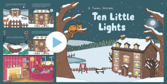 Ten Little Lights Story PowerPoint - twinkl originals, fiction, christmas, winter, counting, animals, numbers to 10