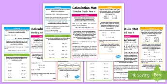 Year 4 Addition, Subtraction, Multiplication and Division Differentiated Maths Mats - KS2 Maths, Year 4, Y4, addition, subtraction, multiplication, division