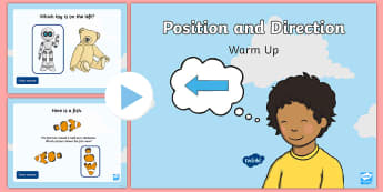 Year 1 Position and Direction Maths Warm-Up PowerPoint - KS1 Maths Warm Up Powerpoints, KS1, maths, numeracy, year 1, Y1, year one, warm up, warm-ups, warm-u