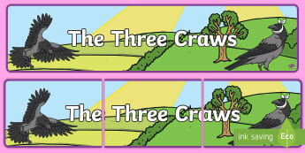 The Three Craws Display Banner - -Scottish - Scots language, Scottish, Scots, Song, Poem, St. Andrew's, ,Scottish,Scottish