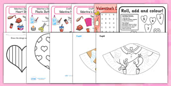 Valentine's Day Craft and Activity Resource Pack - craft, pack