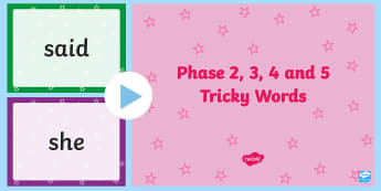 Tricky Words PowerPoint - tricky words, powerpoint, words, tricky
