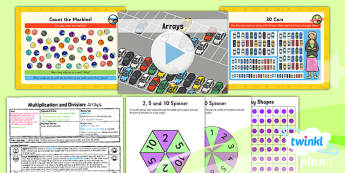 PlanIt Maths Y1 Multiplication and Division Lesson Pack Arrays
