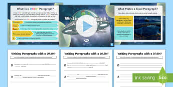 Writing Paragraphs with a DASH?: Creating Tension, Suspense and Atmosphere in Sci-Fi Paragraphs Resource Pack - DADWAVERS, literacy shed, paragraphs, openers, setting, sci-fi, descriptive