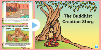 The Buddhist Creation Story PowerPoint - buddhist creation, budda, bhuddist creation, create, world began