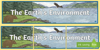 The Earth's Environment Display Banner - Australia - ACHASSK088, title, geog, geography, Aus, world,Australia,Australia