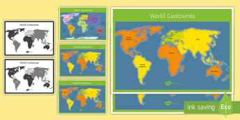 World Map Posters Display Pack - map, atlas, download, outline, worksheet, handout