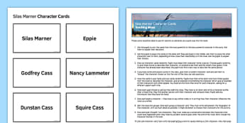 Silas Marner Character Cards - Silas Marner, George Eliot, Mary Ann Evans, characters