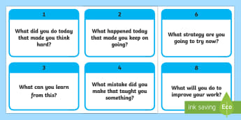 10 What Questions to Develop Growth Mindset in Children Flashcards - 10 WHAT Questions to Develop Growth Mindset in Children - PSHE, psychology, growth, mindset, growth