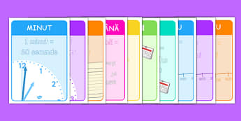 Unități de măsură - Planșe - unități de măsură, timp, planșe, minut, scundă, oră, an, materiale, materiale didactice, română, romana, material, material didactic
