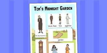 Tom's Midnight Garden Vocabulary Poster - vocab, poster, display