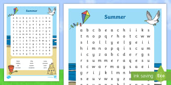 Summer Word Search - NI Summer, word search, word, search, summer, NI, NI Summer, summer word search, wordsearch