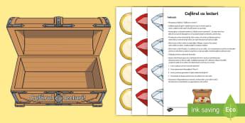 Cufărul cu lecturi Decupabile - Cufarul, lecturi, coltul lecturii, de citit, carti, carte, de afișat