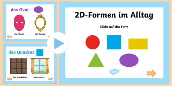2D Formen im Alltag PowerPoint - Mathe, Geometrie, Form, Figur, Fläche, Seiten, Powerpoint, ,German