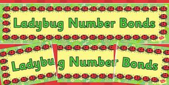 Ladybug Number Bonds Display Banner - ladybug, usa, display