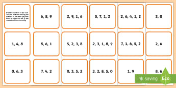 CfE First Level Working Memory Reverse Number Order Cards  - long term, short term, game, brain training, Cognitive,Scottish