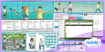 Twinkl Move - Year 3 Striking and Fielding Unit Pack - PE, physical, education, y3, ks2, planning, plans, lesson plans, mtp, ppt, powerpoints, display, cri