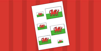 Welsh Flag Size Ordering - welsh, wales, size, order, ordering
