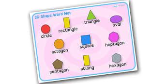 2D Shape Word Mat Dyslexia - 2d shape word mat with dyslexia font, 2d shape dyslexia mat, dyslexia shape image mat, sen font, sen shape mat, sen maths mat