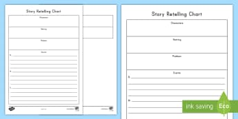 Story Retelling Activity Sheet - Retelling, Story Elements, Problem, Solution, Reading, Literature, Fiction, Events, Characters, Sett